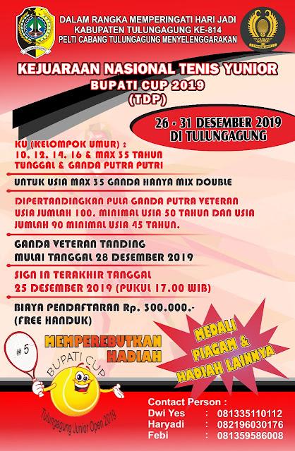 Kejuaraan Nasional Tenis Yunior Bupati Cup 2019 Tulungagung