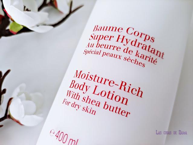 Baume Corps Super Hydratant Clarins bodycare corporal belleza beauty hidratación nutrición piel