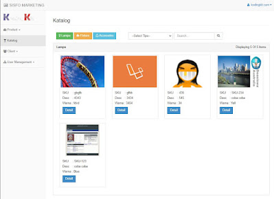Katalog - Aplikasi Marketing Lampu Berbasis Web
