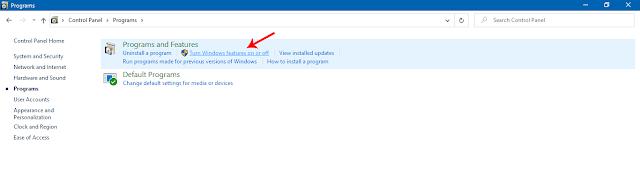 Mengaktifkan Fitur Telnet di Windows 10