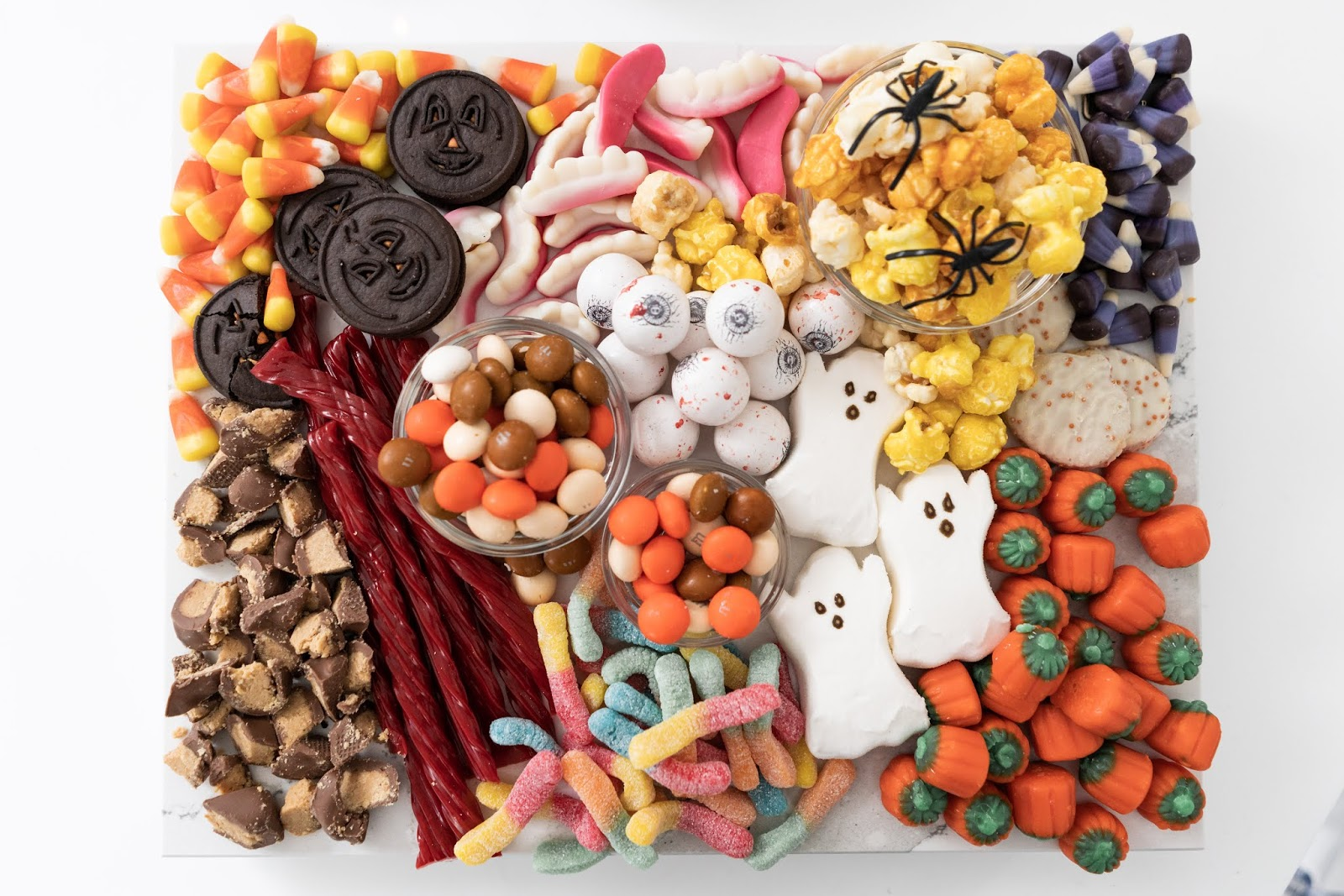 halloween party snacks, candy, and treats