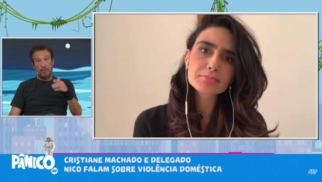 Cristiane Machado diz que foi ameaçada pelo ex com faca no pescoço