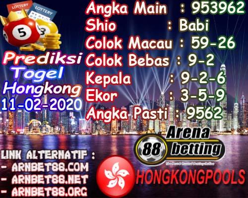 Prediksi Arenabet Togel Hongkong Selasa 11 Februari 2020