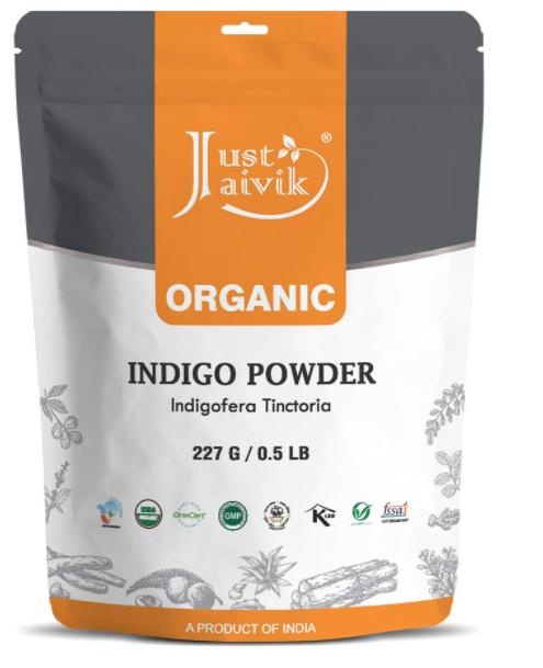 Just Jaivik 100% Natural Indigo Powder for HAIR- 227g