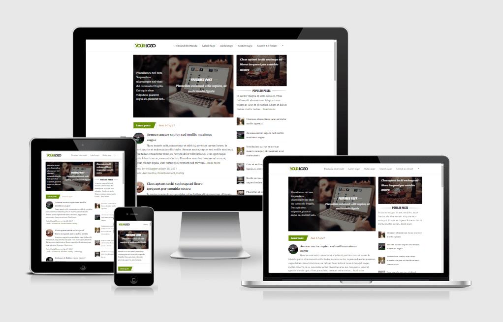 Premium theme blogger mobile responsive