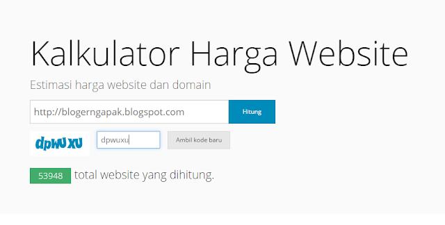 Cara Mengecek Harga Website / Blog