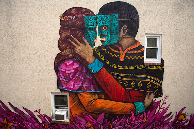 After Zaragoza in Spain, Saner is now back in North America where he was invited by the Mural Arts program to create a new mural in Philadelphia.