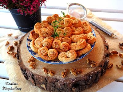 Orzechowe ciasteczka z ciasta francuskiego