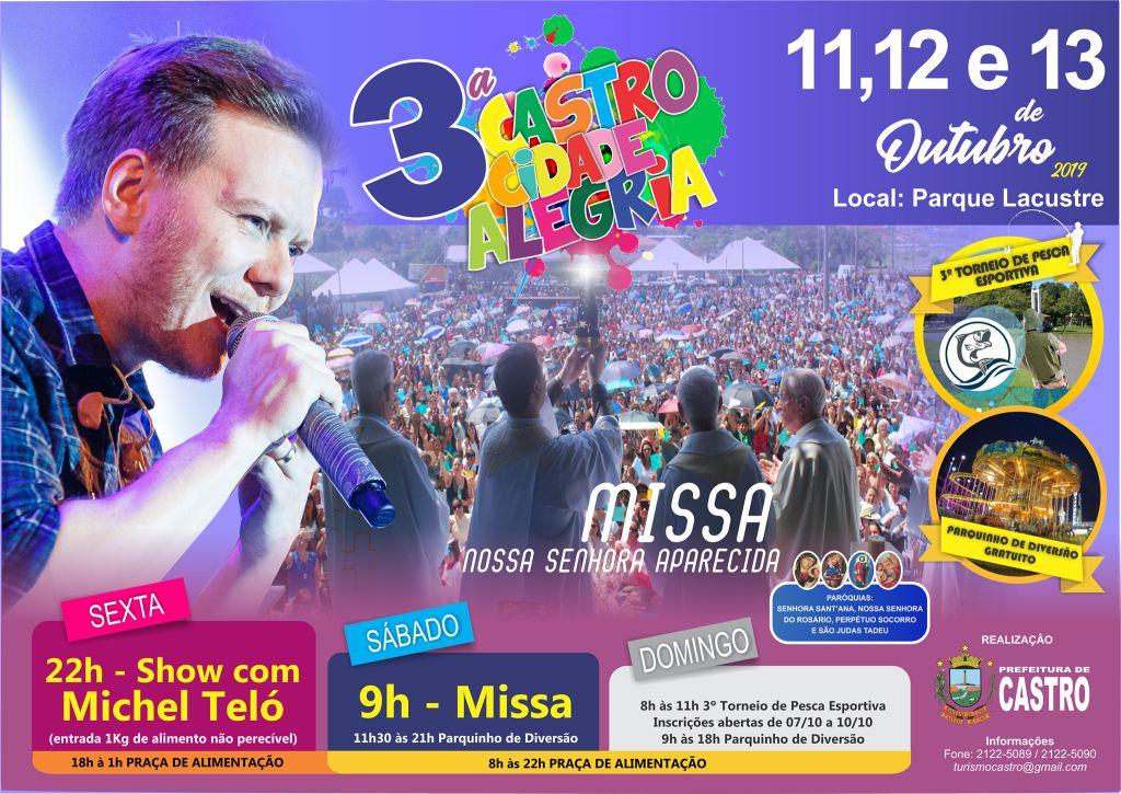 3ª Castro Cidade Alegria começa na sexta-feira (11)