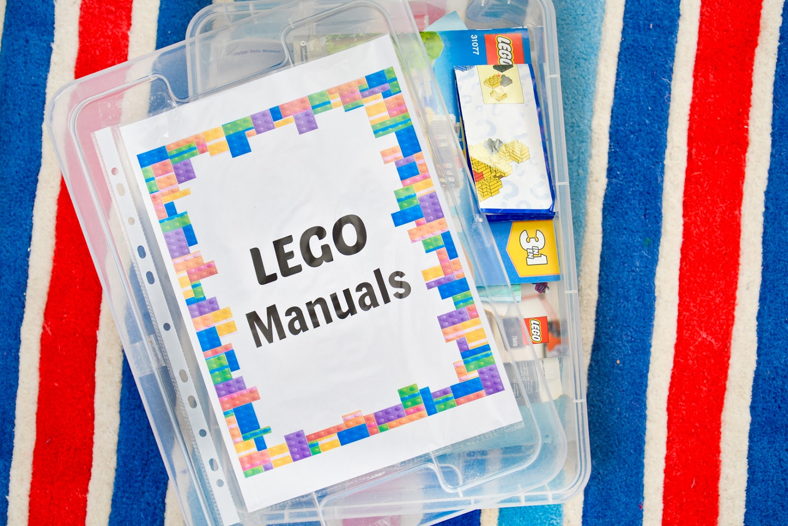 storing lego manuals, lego instruction booklets, lego ideas, lego decor, lego diy, lego storage, lego name, lego letters, lego minifigure display, lego display ideas,