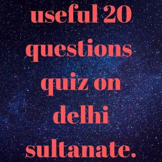 quiz on delhi sultanate