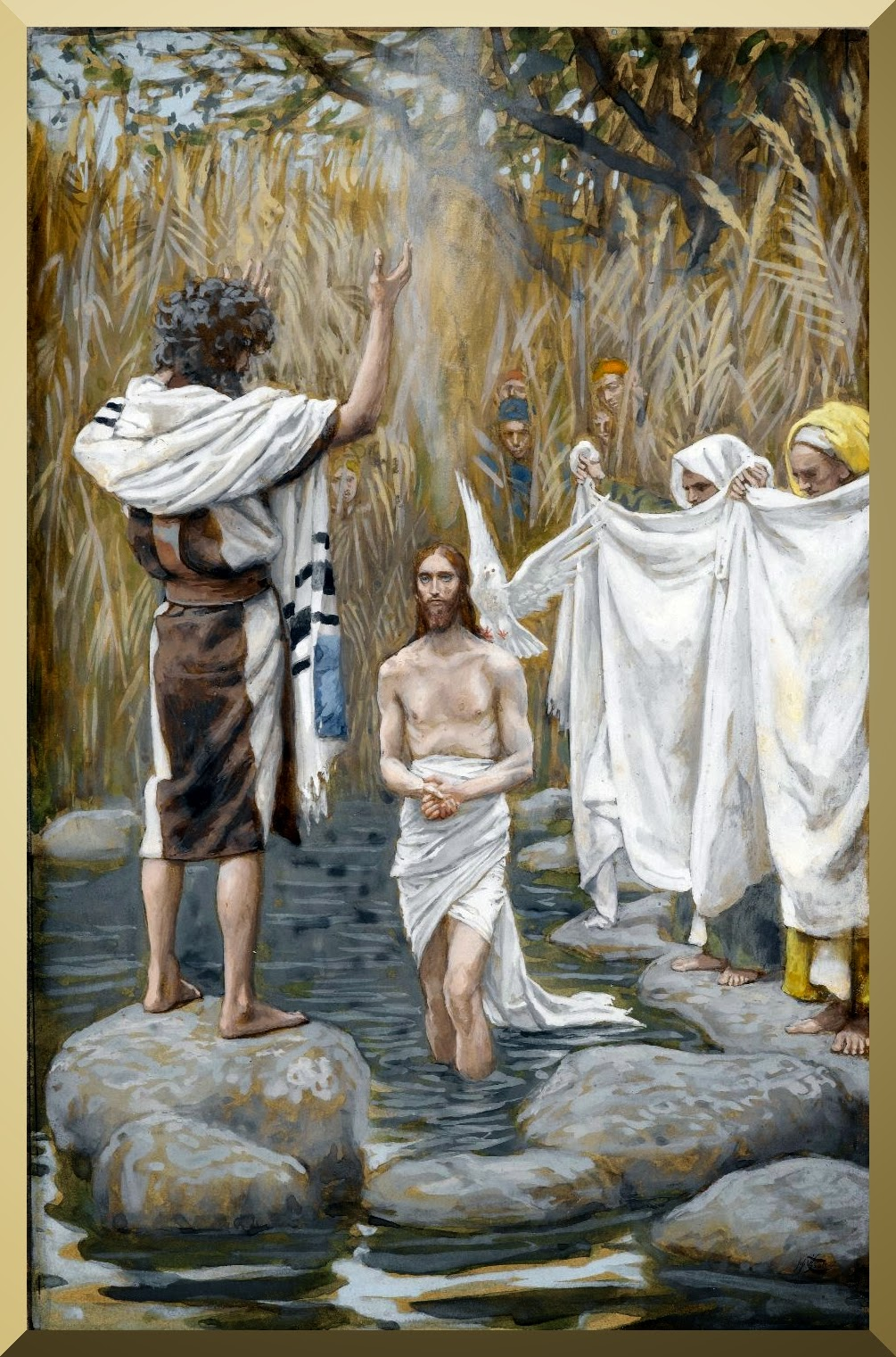 """The Baptism of Jesus"" -- by James Tissot"