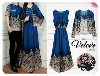 model baju batik untuk pesta pernikahan wanita muslimah