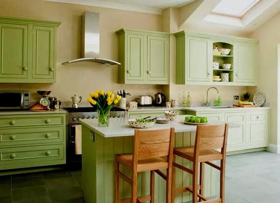 13 Desain Dapur Minimalis Warna Hijau