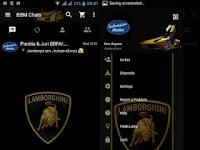BBM Mod Lamborghini Terbaru for Android   Download Gratis