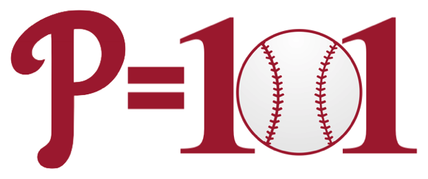 P = 101 using Phillies P and baseball for 0