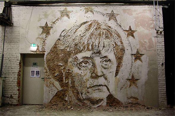 Vhils Angela Merkel