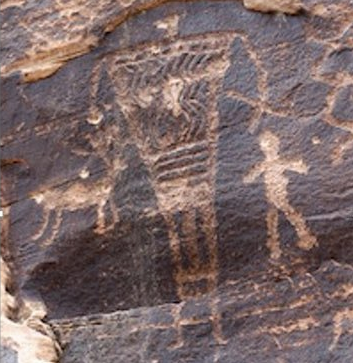 (Image:  A giant on Rock Art Canyon Ranch, Winslow, Arizona)