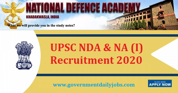 NDA I Exam 2020 (418 Vacancies)