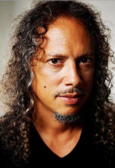 Rostro del guitarrista Kirk Hammett