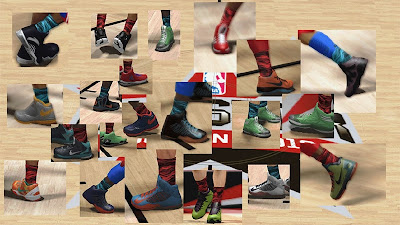 NBA 2K13 2013 All-Star Camo Bright Crew Socks