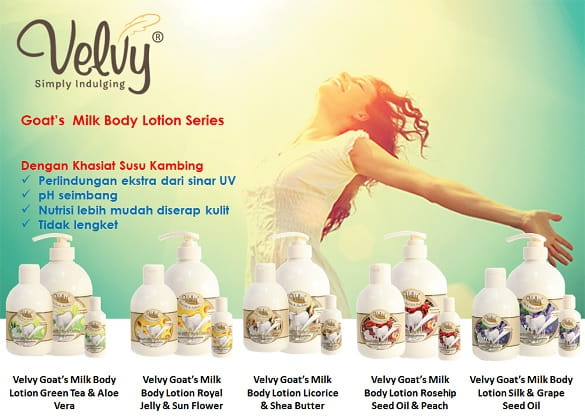 Jaga kesehatan kulit dengan lotion susu kambing Velvy