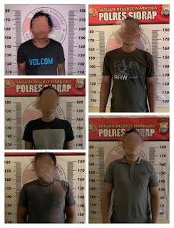 Dalam Waktu Singkat Satresnarkoba Polres Sidrap Tangkap 5 Pelaku Narkoba
