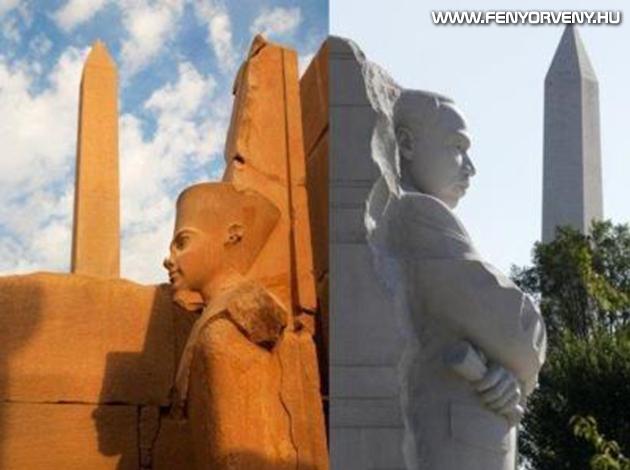 Hasonlóságok: Fáraók-Obeliszkek (régen és ma)