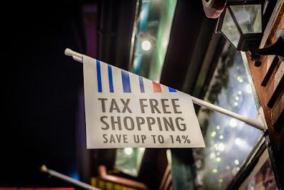 Bandera de duty free para compras en Islandia