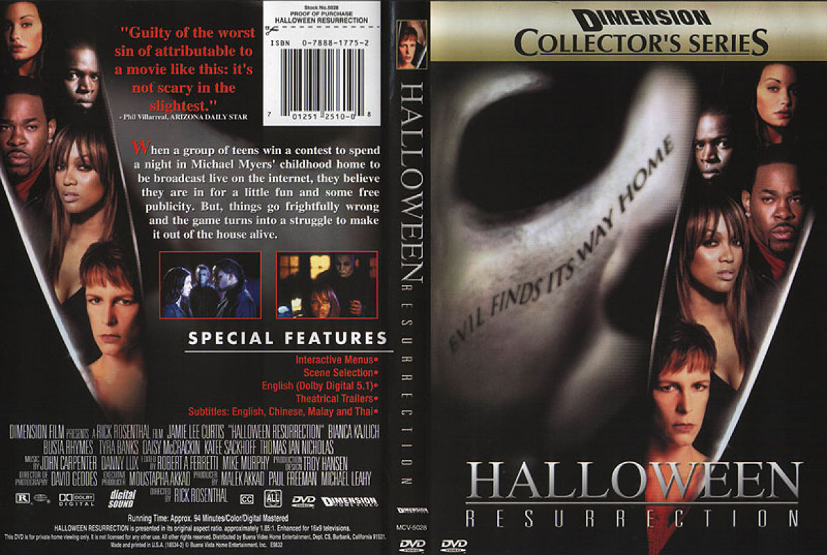 The House Of Sin Dvd the horrors of halloween: halloween resurrection (2002) vhs