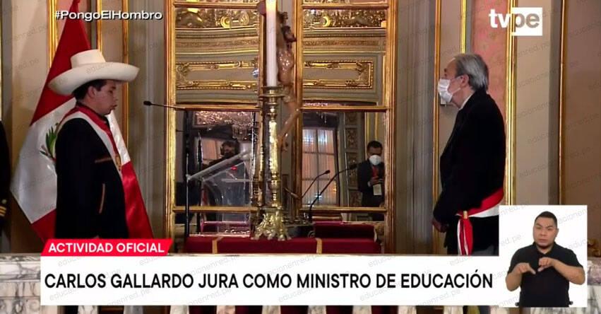 MINEDU: Carlos Alfonso Gallardo Gómez juramentó como nuevo Ministro de Educación - www.minedu.gob.pe