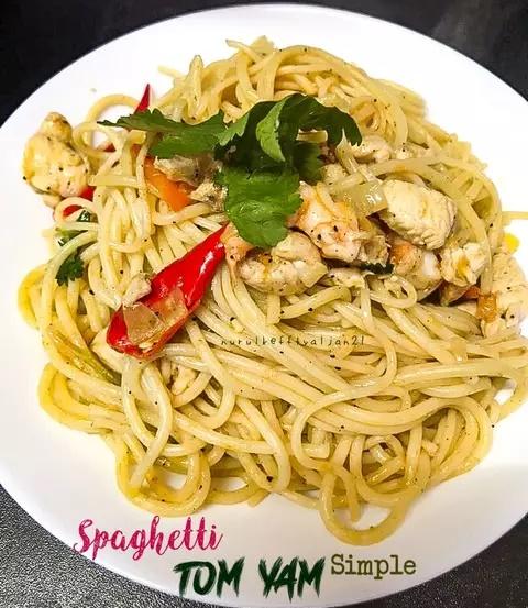 Resepi Spaghetti Tom Yam Simple Resepi Mudah
