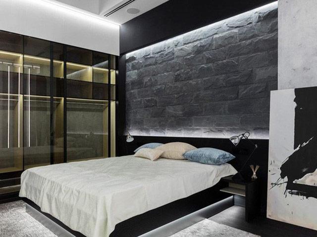 Phòng ngủ với tone màu đen - trắng