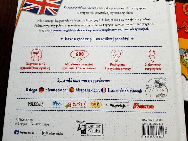 Kapitan Nauka - Księga angielskich słówek - Edgard.pl - jak nauczyć dziecko angielskiego - angielski dla dzieci - Eproti.pl - nauka angielskiego w domu - język angielski gry i zabawy - Trefl