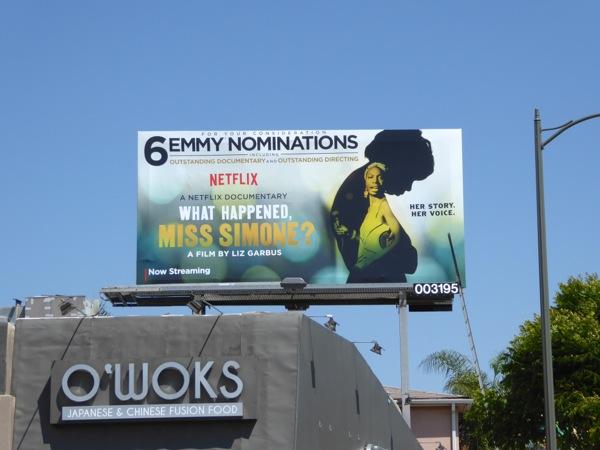 What Happened Miss Simone 2016 Emmy billboard