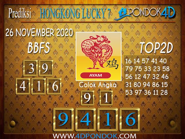 Prediksi Togel HONGKONG LUCKY 7 PONDOK4D 26 NOVEMBER 2020