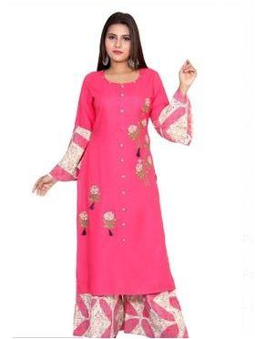 Zaida Party Wear Printed Rayon Kurta Sets