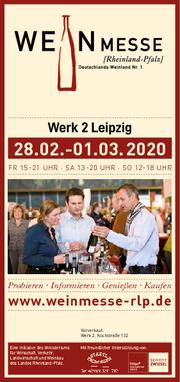 Gewinnspiel zur 5. Weinmesse RLP in Leipzig