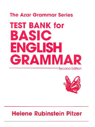 Test Bank For Basic English Grammar: Second Edition