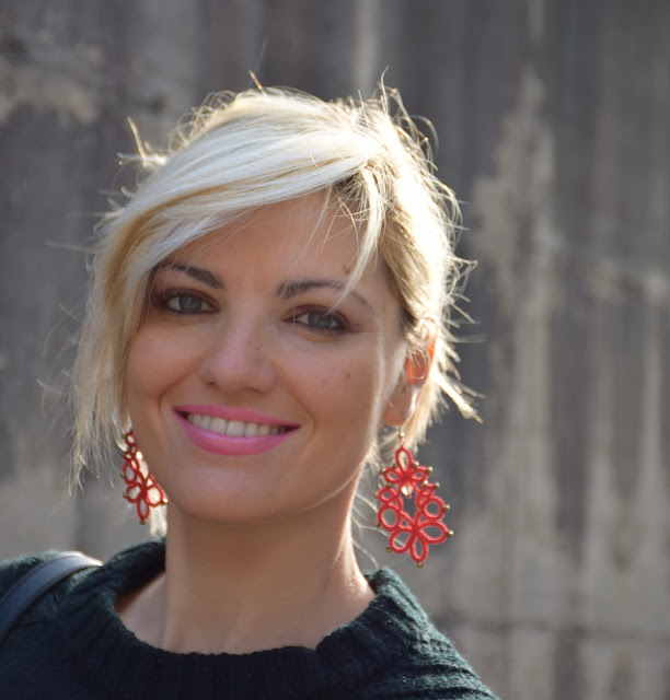 orecchini rossi red earrings mariafelicia  magno fashion blogger