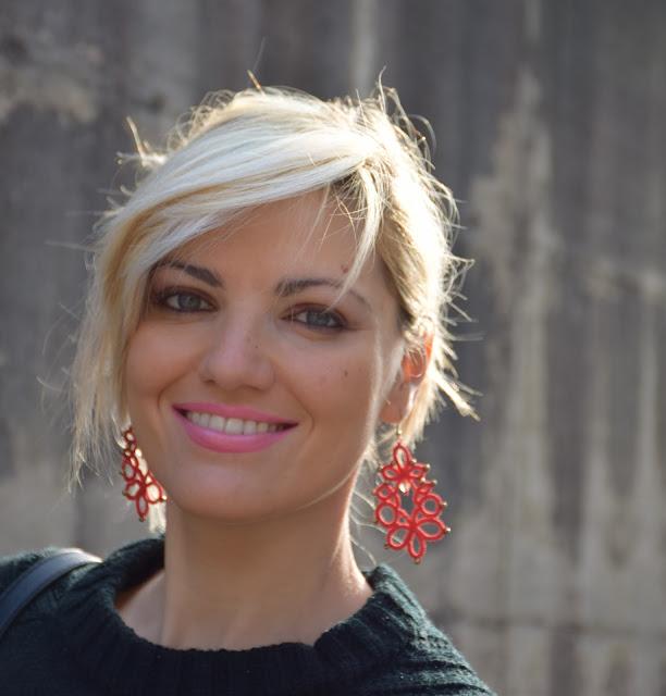 orecchini rossi red earrings mariafelicia  magno fashion blogger