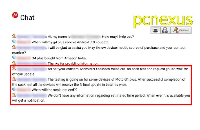 moto g4 plus nougat update not recieved