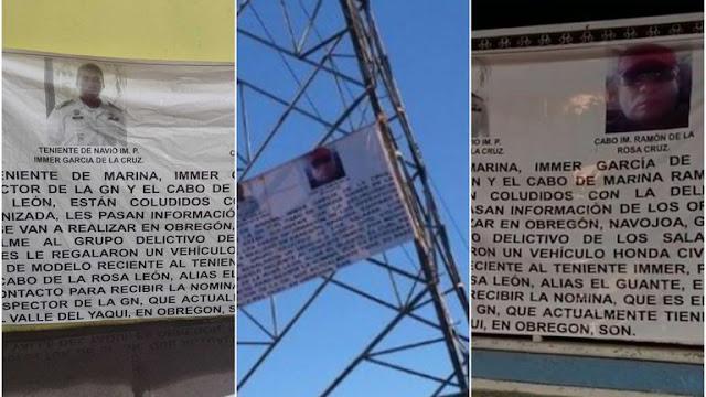 Video: Marinos y Guardias Nacionales son revelados en Narcomanta por apoyar a E Cártel de Sinaloa en Sonora
