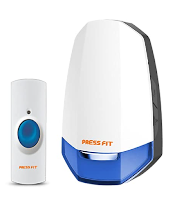 Press Fit Echo-V Auto-Learning Wireless Door Bell with Special Tunes for Offices, Doctors, Hospitals, Religious