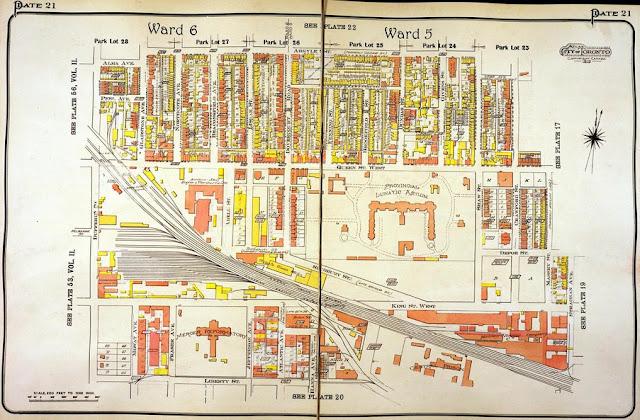 Plate 21, Goad's Atlas of the City of Toronto, 1913