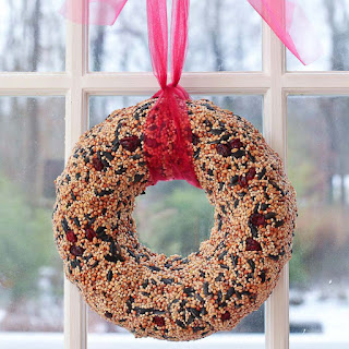 How to make a birdseed wreath gift