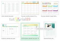 cara membuat kalender dengan Excel dan Photoshop