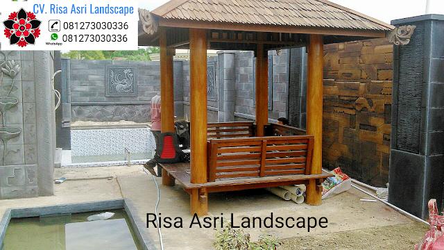 cv. risa asri landscape gambar desain saung gasebo pergola