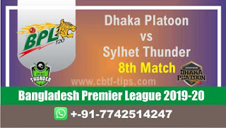 Who will win Today BPL T20, 8th Match Sylhet vs Dhaka - Cricfrog