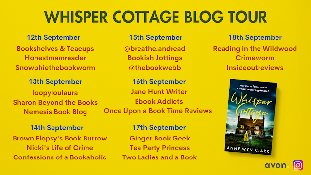 Whisper Cottage by Anne Wyn Clark blog tour banner